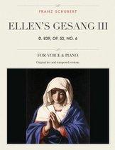 Ellen's Gesang III, D. 839, Op. 52, No. 6