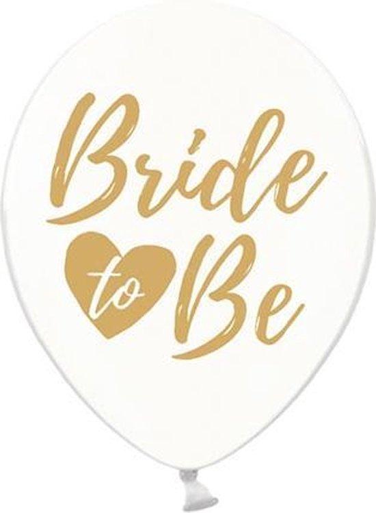 Ballonnen clear Bride To Be goud 50 stuks