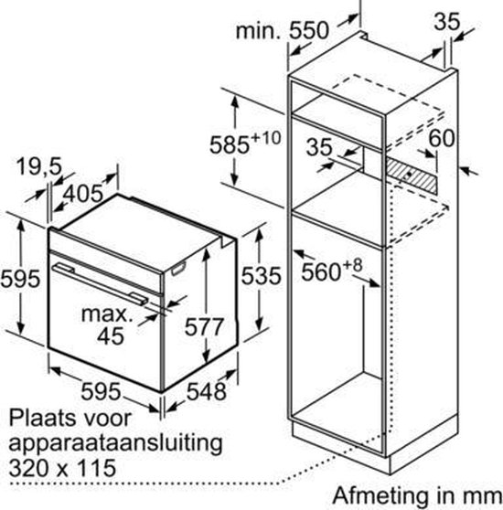 Siemens HB634GBS1 iQ700 - Inbouw oven - RVS Zwart