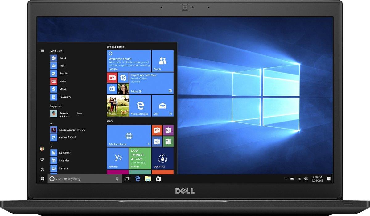 "DELL Latitude 7490 Notebook 35,6 cm (14"") 1920 x 1080 Pixels Intel® 8de generatie Core™ i5 8 GB DDR4-SDRAM 256 GB SSD Wi-Fi 5 (802.11ac) Windows 10 Pro Zwart"
