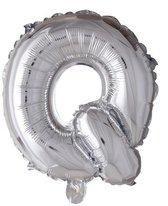letterballon - 100 cm - zilver - Q