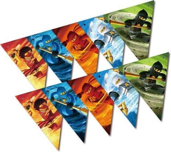 Lego Ninjago Feestversiering Vlaggenlijn set| 10 Stuks | 2,50 meter lang | Kinderfeest | Thema feest