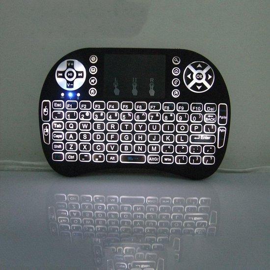 Mini i8 draadloos toetsenbord + muis multimedia touchpad incl. Backlight