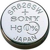 10 Stuks - Sony SR626SW (377 / 376) AG4 Zilveroxide horloge knoopcel batterij