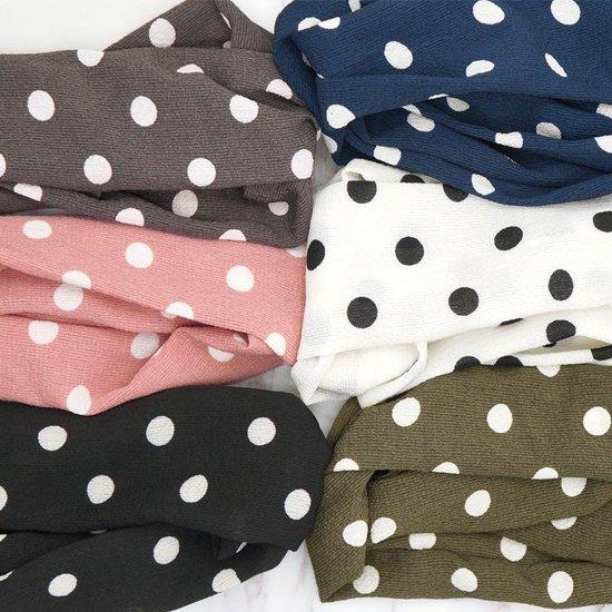 Haarband Stippen Blauw   Chiffon - Polyester   Elastische Bandana   Fashion Favorite - Fashion Favorite