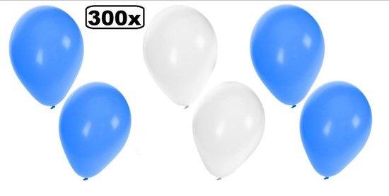 300x Ballonnen blauw/wit/blauw