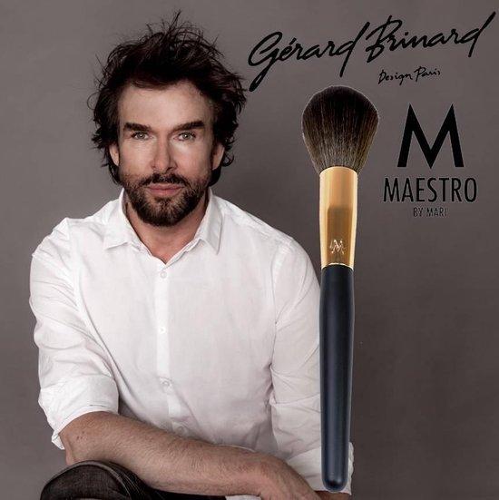 Maestro by Mari make-up kwast poederkwast rose goud - synthetisch - Gerard Brinard