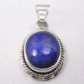 Natuursieraad -  925 sterling zilver lapis lazuli ketting hanger bedel - luxe edelsteen sieraad - handgemaakt