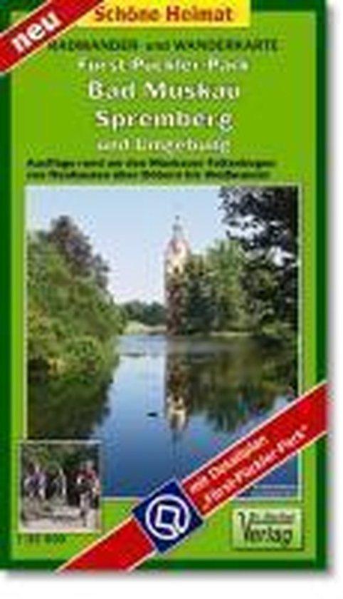 Fürst-Pückler-Park Bad Muskau, Spremberg und Umgebung 1 : 35 000. Radwander- und Wanderkarte