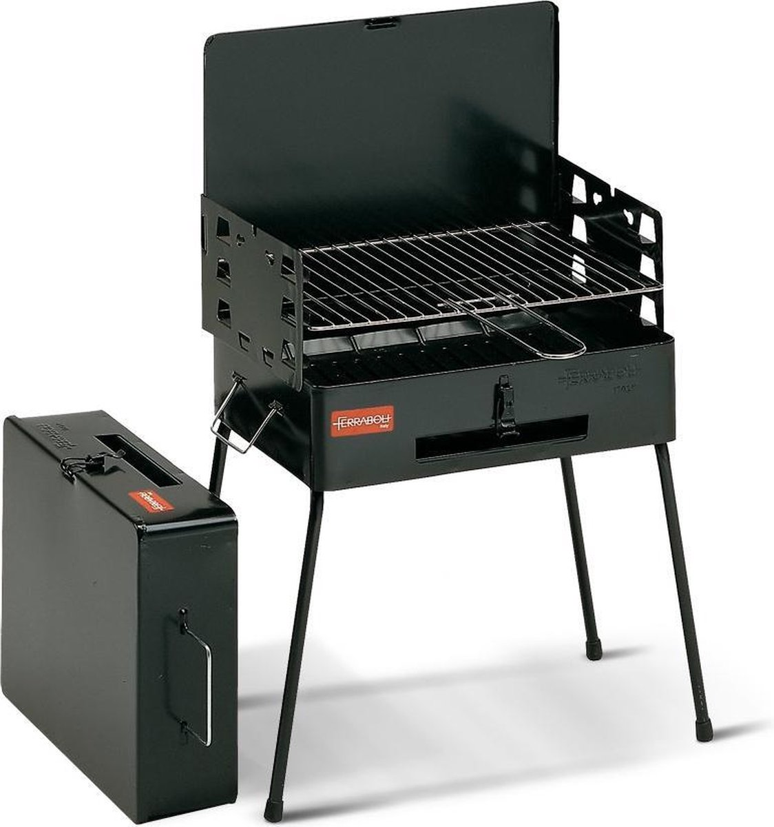 Ferraboli Picnic Houtskoolbarbecue - Zwart