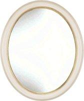 Ovale Spiegel Kevin Buitenmaat 36x46cm Ivoor-goud