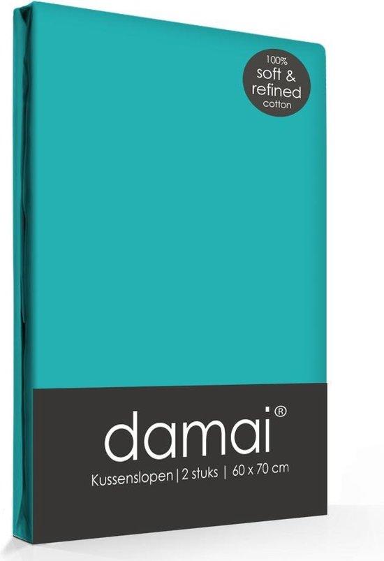 Damai - Kussensloop - 60 x 70 cm - Turquoise  - 2 stuks
