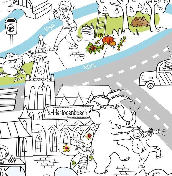 Very Mappy Nederland: XXL speel- & kleurplaat van Nederland