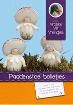 DIY wolvilt pakket: Paddenstoel bolletjes