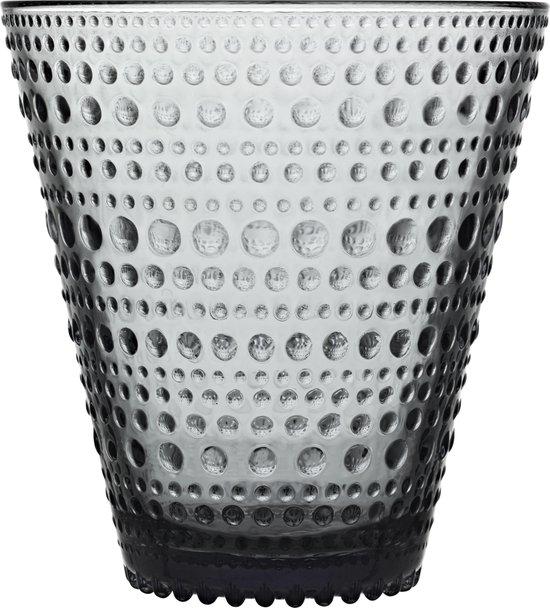 Iittala Kastehelmi Glas - 30 cl - Grijs - 2 stuks