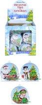 12 stuks grabbelton flipperspel model kerst / uitdeelcadeautjes