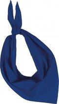 Zakdoek bandana kobalt blauw
