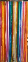 Vliegengordijn/deurgordijn linten multicolor 100x220
