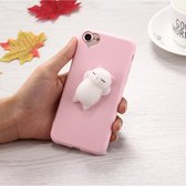 Let op type!! For iPhone 6 Plus & 6s Plus 3D Little Bear Pink Ears Pattern Squeeze Relief Squishy Dropproof Protective Back Cover Case