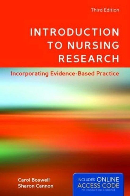 Boek cover Introduction To Nursing Research van Carol Boswell (Paperback)