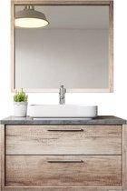 Badplaats - Badkamermeubel Indiana 90cm - Hout look - Badmeubel met spiegel