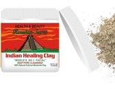 Roushun Secret Indian Healing Clay - Unisex - 100% natuurlijke calcium bentoniet klei gezichtsmasker - deep pore cleansing - Aztec clay