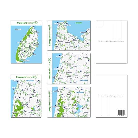 Set van 5 ansichtkaarten met de fietsknooppunten uit de regio. Texel -Kust Noord-Holland - noord - Knooppuntkaart.nl pdf epub