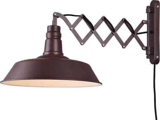 Trio Leuchten mancis Wandlamp met flexarm 1 lichts D 530 mm Bruin