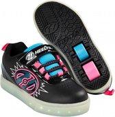 Heelys Rolschoenen POW Zwart Roze - Sneakers - Kinderen - Maat 34 - LED lichtjes