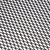 Grillgaas alu 30x90cm wafel zwart