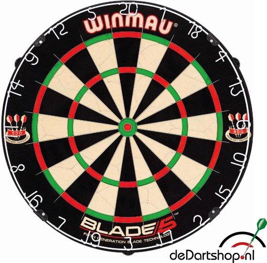 Dragon - Sorpresa PRO - Complete PRO - zwart-rubber - Winmau Blade 5 - dartmat rubber 300*60 incl. Oche - dartbord verlichting