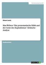 Max Webers Die protestantische Ethik und der Geist des Kapitalismus. Kritische Analyse