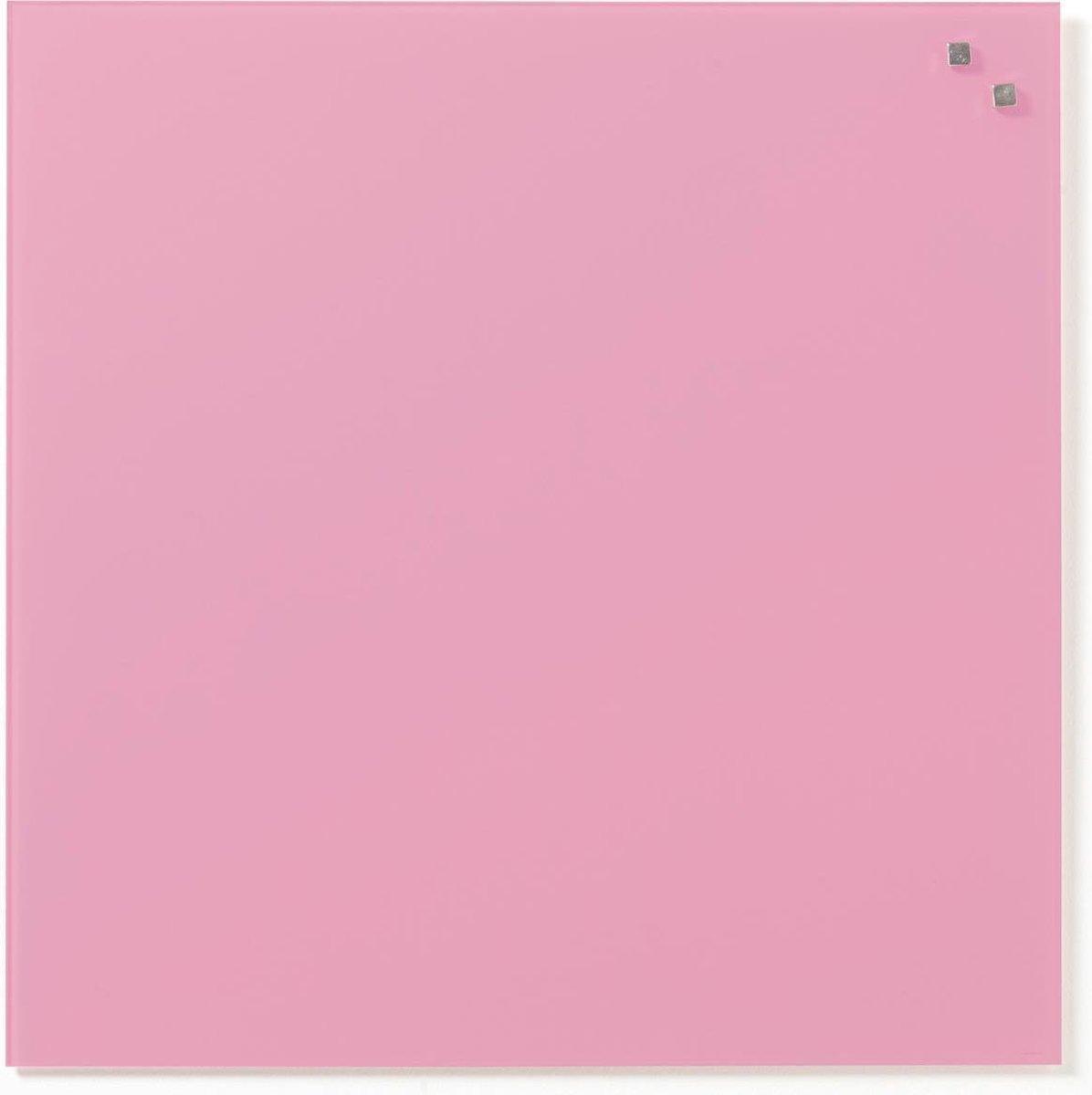 NAGA Glassboard 45x45cm Licht Roze