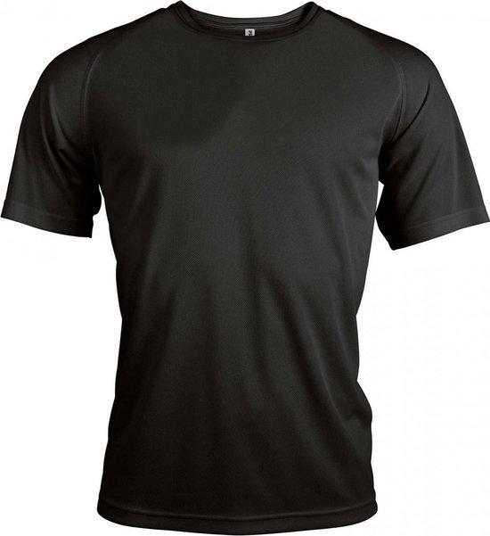 Functioneel Sportshirt - Zwart - Polyester - Maat M
