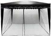 Trend24 - Insectennet - 300 x 300 paviljoen - Zwart - 220cm Hoog