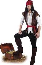 4 stuks: Volwassenenkostuum Piraat Thunder - maat 50/52