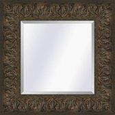 Brocante spiegel Met ornament Sevilla Bruin eiken large 87mm            Buitenmaat 48x139cm