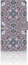 Samsung Galaxy J4 Plus (2018) Boekhoesje Design Flower Tiles