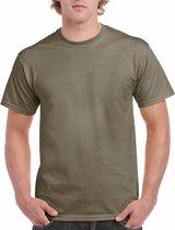 Kaki groene katoenen shirt voor volwassenen L (40/52)