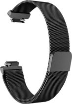 YONO Milanees bandje - Fitbit Inspire (HR) - Zwart - Small