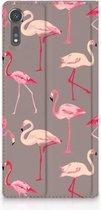 Sony Xperia XZ   XZs Standcase Hoesje Flamingo
