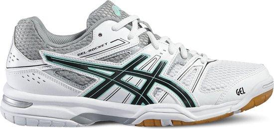 Asics Gel-Rocket 7 Sportschoenen - Maat 37 - Vrouwen - Wit/grijs/zwart