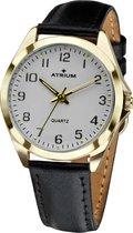 ATRIUM Horloge Dames Leer Zwart - A11-20