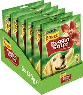 Bonzo Beggin' Strips - Hondensnacks Bacon - 6 x 120g