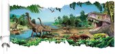 Dinosaurus Muursticker  - 90 x 46 cm - dinosaurussen - dino - kinderkamer