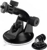 Zuignapbevestiging + statiefadapter voor GoPro - Zwart