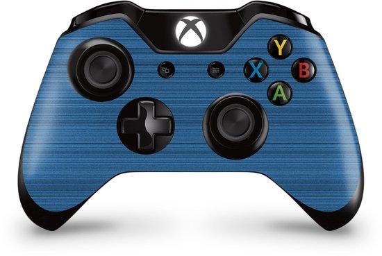 Xbox One Controller Skin Brushed Blauw Sticker