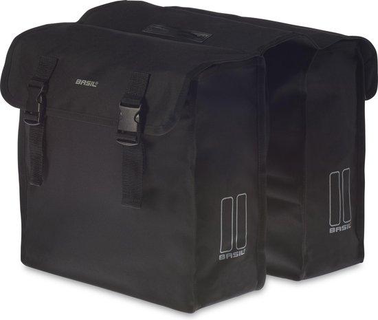 Basil Mara XL Dubbele Fietstas - 35 liter - Zwart