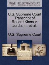 U.S. Supreme Court Transcript of Record Kinns V. Jorda, Jr., Et Al.