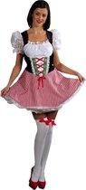 Sexy Heidi jurkje | Oktoberfest dirndl met kanten mouwen | Dames verkleedkleding maat 32/34  (XS)
